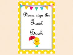Duck Theme Baby Shower Game Pack, Neutral, duck theme, Whimsical Duck Baby Shower Games Printables, yellow polka dots TLC30