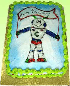 Kids and robot lovers everywhere are sure to love this cake!