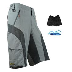 2014 MTB Loose Fit Cycling Shorts Detachable Liner Underwear Padded Leisure Bike/Bicycle Shots M-XXXL
