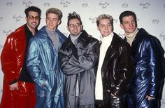 Then (wearing parachutes): | These Pictures Of NSYNC Reunited Back Stage Will Basically Make You Die
