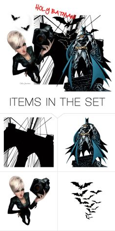 """""""Holy Batman!"""" by calicojunction ❤ liked on Polyvore featuring art"""