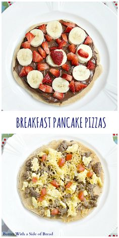 Breakfast Pancake Pizzas ~ Butter With A Side of Bread