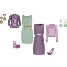"""Soft Summer color inspiration. Purple. Green."" by adriana-cizikova on Polyvore"