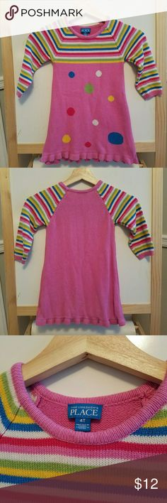 """CHILDREN'S PLACE"" funky stripes and dots sweater Everyone loves The CP! They always nail it. This fits true to size. Used in great condition. Children's Place Dresses Casual"