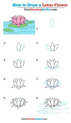 How to Draw a Lotus Flower – Really Easy Drawing Tutorial Learn How to Draw a Lotus Flower: Easy Step-by-Step flDrawing Tutorial for Kids and Beginners. See the full tutorial at easydrawingguides…. How to Draw a Lotus Flower – Really Easy Drawing Tutorial Easy Drawing Tutorial, Easy Drawing Steps, Step By Step Drawing, Easy Flower Drawings, Flower Drawing Tutorials, Drawing Tutorials For Kids, Drawing Flowers, Flower Tutorial, Flower Drawing For Kids