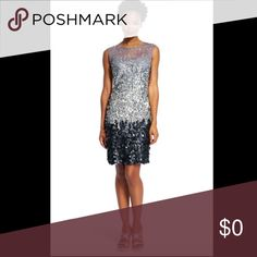 ✨NEW✨ Adrianna Papell Ombre Sequin Cocktail Dress Flashy cocktail dress featuring large payette sequins |  Illusion sweetheart neckline with tank lining underneath |  Worn once for NYE - in excellent condition! |   🚫 no trades  💸  open to reasonable offers Adrianna Papell Dresses Mini