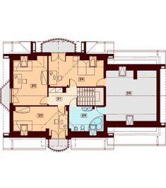 Rzut DN Karmelita 2M CE Malm, Teak, Floor Plans, Floor Plan Drawing, House Floor Plans