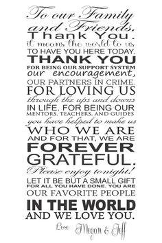 Wedding Thank You sign - printed on Etsy, $50.00
