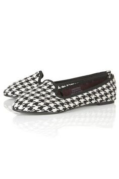 MADRE Houndstooth Slippers - Flats  - Shoes