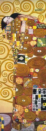 Fulfilment - Golden Metallic Ink Art Print by Gustav Klimt at Art.com