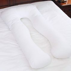 U Shaped Maternity Pregnancy Body Pillow with Zipper Removable Washable Cotton Cover, White ** See the photo link even more details. (This is an affiliate link). Pregnancy Pillow, Maternity Pillow, Home Kitchens, Bed Pillows, Pillow Cases, How To Remove, Shapes, Zipper, Cover