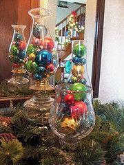 Grandma's old ornaments in oil lamps