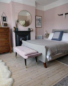 Home Interior Decoration .Home Interior Decoration Farrow And Ball Bedroom, Pink Bedrooms, Luxury Bedrooms, Master Bedrooms, Pink Master Bedroom, Bedroom Mirrors, Bedroom Fireplace, Farrow Ball, Up House