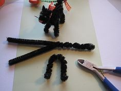 Creative Breathing: Scaredy Cat Tutorial - pipe cleaner