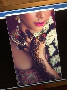Bridal Mehndi portrait