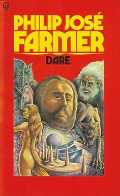 British reprint of Dare by Philip José Farmer   Though Earthmen first landed on the planet Dare 300 years earlier, they were still bound by the same standards of snobbery and fear... until Jack Cage found himself strangely drawn to a spectacularly beautiful native. To consort with her meant death. And what were humans doing on the planet anyway?