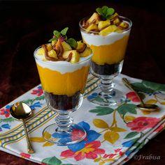 La cocina de Frabisa: Copa de chocolate, naranja y piña fresca. Fácil y rápido.