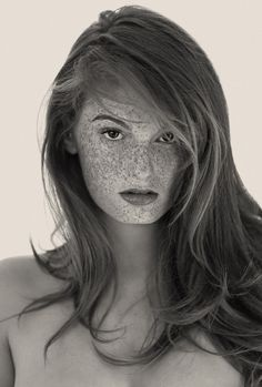 For any spotted beauties out there who have hidden their freckles, spots or unusually-shaped beauty marks, here's a reason to embrace every last dot. Los Angeles photographer Reto Caduff has devoted an entire limited-edition book, Freckles, to black and white portraits honoring these pretty spots—and every one of these women looks amazing.