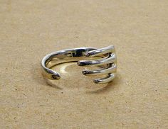 Sterling Silver Hand Wrapped Around Your Finger Finger Ring Adjustable, $89.00