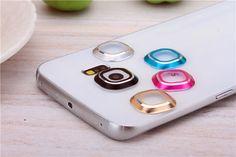 Volver cámara trasera de cristal de metal lente protector de la cubierta de la caja círculo accesorios del teléfono móvil para samsung galaxy s6 s6 edge
