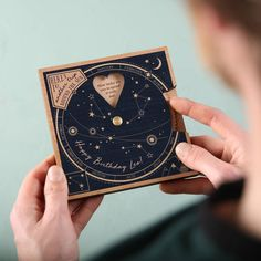 Birthday Memories Planisphere by No Ordinary Gift, the perfect gift for Explore more unique gifts in our curated marketplace. Creative Gifts For Boyfriend, Boyfriend Gifts, Great Birthday Gifts, Diy Birthday, Gifts For Him, Gifts For Women, Cute Couple Gifts, Diy Cadeau, Ideias Diy