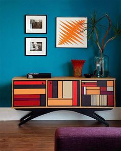 48 Amazing And Innovative Sideboard Designs : 48 Original And Creative Sideboard Designs With White Blue Wall Wooden Colorful Low Sideboard . Decor, Furniture Design, House Design, Luxury Furniture, Home Furniture, Luxury Sideboard, Interior Design, Home Decor, Sideboard Designs