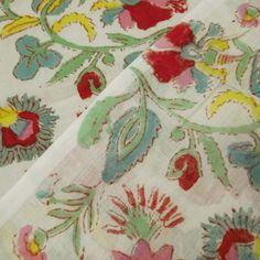10 Yard Indian Hand Block Print Floral Print by handprintedshop