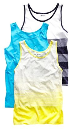 arizona striped and solid tank tops