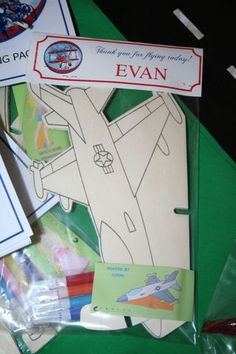 Airplane Favor... Also guests could throw at send-off for cute pictures