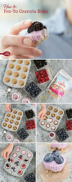 33 Easy Recipes for Back To School - Fro Yo Granola Bites -Quick and Delicious Recipe Ideas for Kids and Adults. Pack for School Lunches, Make Ahead for Work, Freeze and Store for Early Morning Breakfasts, Super Lunch Meals, Simple Snacks and Dinner Make Ahead Breakfast, Breakfast Recipes, Snack Recipes, Healthy Recipes, Easy Recipes, Jello Recipes, Whole30 Recipes, Vegetarian Recipes, Breakfast Healthy