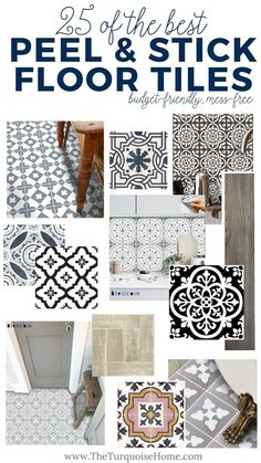 The 25 best ideas for peel and stick floor tiles perfect for a budget .The 25 best ideas for peel and stick floor tiles perfect for a budget-friendly floor renovation! peelandstickfloortile diyproject shoppingguide diyhomedecorPeel and Home Renovation, Home Remodeling, Basement Renovations, Kitchen Remodeling, Bathroom Renovations, Basement Ideas, Peel And Stick Floor, Stick On Tiles Floor, Peel And Stick Wallpaper