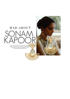 'Mad about Sonam Kapoor' by me on Limeroad featuring Non Precious Gold Earrings