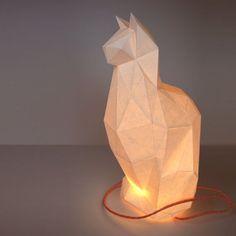 De downloads van de kat DIY opvouwbare kit - gemakkelijk - geometrische papercraft dierlijke huisdier katachtige