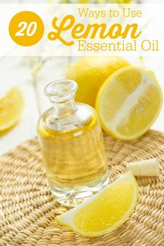 20 Ways to Use Lemon Essential Oil - practical uses to help you in your home and health! You can use it on your skin as a natural beauty recipe or in a bunch of other healthy ways to work it into your life.