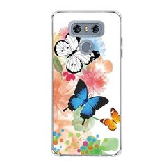 Silicon Flower Cats Butterfly Cases For LG G6 H870DS – SaviCat