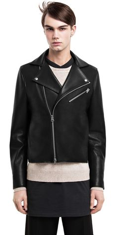 Gibson black biker jacket #AcneStudios #menswear