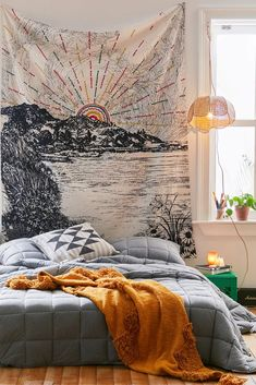 Shop Embroidered Landscape Tapestry at Urban Outfitters today. We carry all the latest styles, colors and brands for you to choose from right here. Hippy Room, Boho Room, Bohemian Dorm Rooms, Bohemian Living, Urban Outfitters Tapestry, Room Tapestry, Tapestry Wall Hanging, Hippie Tapestries, Wall Hangings
