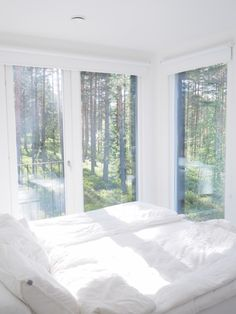 Bedroom with a view Bedroom Decor For Small Rooms, Diy Bedroom Decor, Bedroom Furniture, Home Decor, Minimalist Bedroom, Minimalist Home, Scandinavian Bedroom, Luxury Bedding, My Dream Home