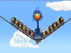 """For the Birds - Animated Short Film Pixar Short Film: For the Birds (This one is great for the beginning of the year, especially to infer important ideas about friendships, tolerance, bullying, and more. Great """"moral to the story. Bullying Videos, Anti Bullying Week, Anti Bullying Activities, Cartoon Character Pictures, Cute Cartoon Characters, Film Pixar, Pixar Movies, Pixar Shorts, Disney Shorts"""
