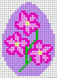 Flores_Punto de cruz