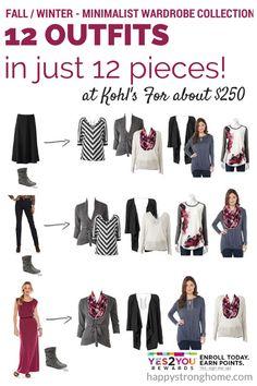 Minimalist Fall Winter Wardrobe Kohls Yes2You Rewards + #giveaway until 10/14 US #sponsored #fashion #style