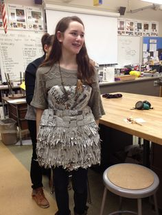 Newspaper/Recycled paper fashion show