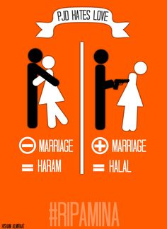 """Penal Code in Morocco allows a rapist to escape prosecution my marrying his victim while a loving couple may face prosecution for """"sex without marriage."""" Activists are calling for an abrogation of the law. (Halal: permitted; Haram= forbidden; PJD: Islamist party leading the Moroccan government; Amina: a 16 y-o Moroccan who committed suicide after being forced to marry her rapist)"""