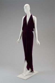 Designed by Roy Halston Frowick, known as Halston, Dress, American, 1980s, Museum of Fine Arts, Boston.