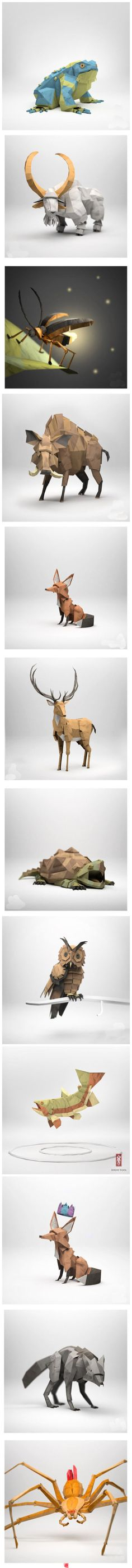 Wonderful paper critters