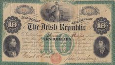 1866 $10 Fenian Bond Political Issues, Bond, Irish, Vintage World Maps, Coins, Paper Envelopes, Irish Language, Ireland
