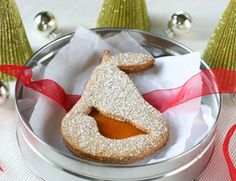 And a Partridge in a Pear Tree - Linzer Cookies  http://dessertfirstgirl.com/2007/12/partridge-in-a.html