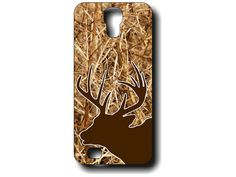 Our popular real camo Samsung Galaxy S4 phone case with a deer head silhouette that you can customize with your favorite color!  Just write the color from our color chart that you would like as the color of the deer head in the notes at checkout. (example shown is Walnut)