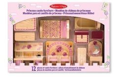 A lovely addition to your little girls doll house with our 12 piece Melissa & Doug Wooden Princess Castle Furniture Set. This sturdy furniture is designed to fit the Folding Princess Castle perfectly but can also be played with separately. Castle Dollhouse, Girls Dollhouse, Wooden Dollhouse, Dollhouse Furniture, Kids Furniture, Furniture Sets, Reborn Toddler Girl, Old Fashioned Kitchen, Selling Furniture
