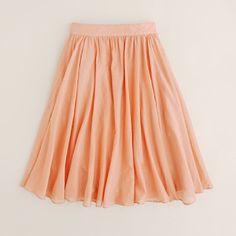 peachy skirt